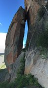 Rock Climbing Photo: Another classic 12a sport line goes up the narrow ...