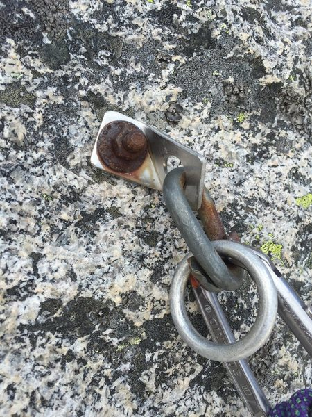 Rock Climbing Photo: This is the left bolt on the anchor at the base of...