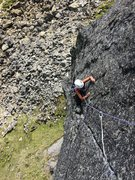 Rock Climbing Photo: The Pig's upper, right-angling crack