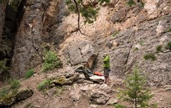 Rock Climbing Photo: The base area of FCR's Back 40, a series of excell...