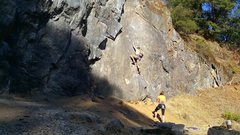 Rock Climbing Photo: as with sneaky you will wish the route is 40 ft lo...