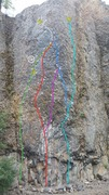 Rock Climbing Photo: The Pit (L side)  1. Gravalanche (11a) 1a. Gravala...