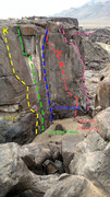 Rock Climbing Photo: Routes to the left of the prow