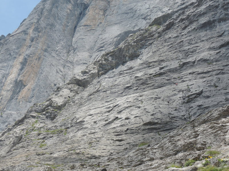 Rock Climbing Photo: Climbers on Spasspartout 6a with Reisand Nollen to...