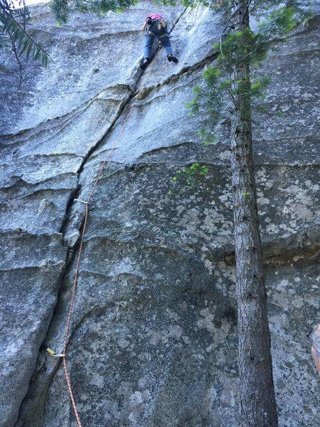 Rock Climbing Photo: My first Trad Lead