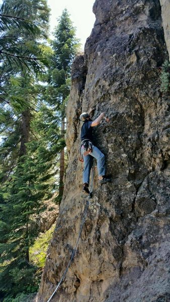 Rock Climbing Photo: getting the second clip. I was trying to staying l...