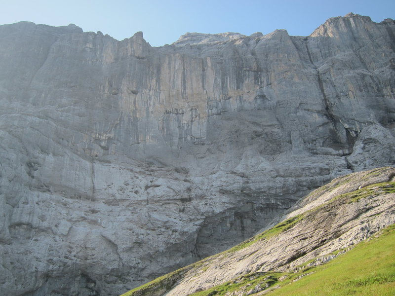 The steep north face of the Titlis
