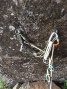 Rock Climbing Photo: Anchor setup at the lunch ledge.
