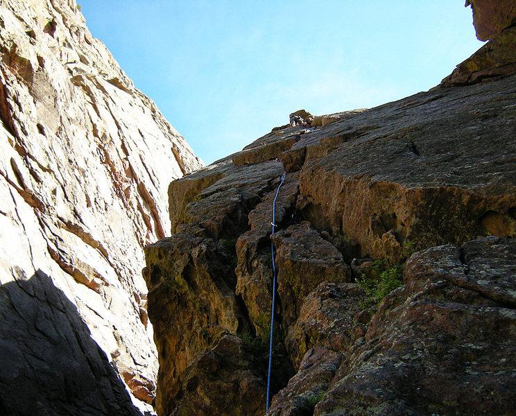 Towards the top.<br> <br> Photo: Steve Nelson.