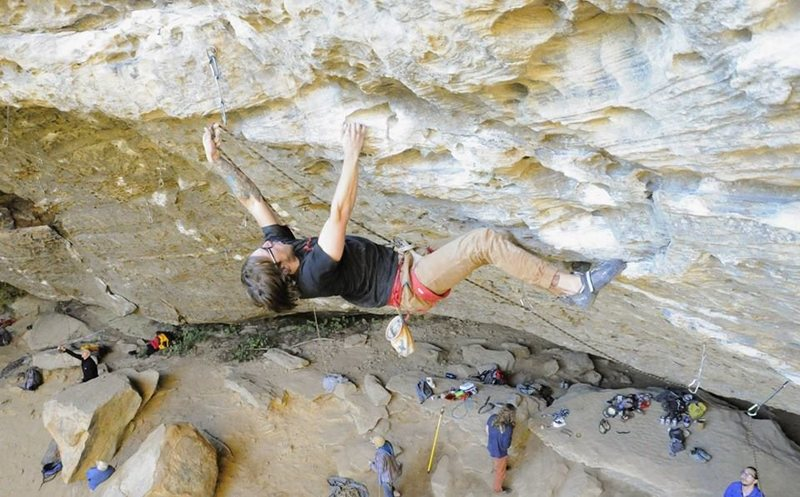 Rock Climbing Photo: Me on Beta Vul Pipeline, 5.12a, Bob Marley Wall at...