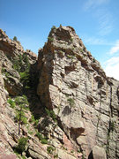 Rock Climbing Photo: The Wind Tower SW face from the top of the Whale's...