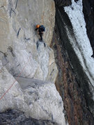 Rock Climbing Photo: This shows the last little bit of the first pitch:...