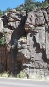 Rock Climbing Photo: In this pic, ISDC is barely right of center and we...