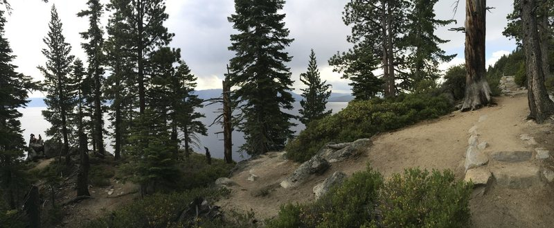 The prominant point where you turn down from the Rubicon Trail for the Highline, Drain the Lake, Tessie's Terror, and Bigler's Bounty
