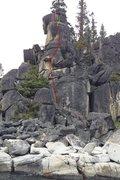 Rock Climbing Photo: The line for Tessie's Terror