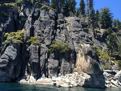 Rock Climbing Photo: Blissful Baning on the left (above the human) J'ai...