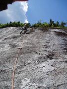 Rock Climbing Photo: P2 Ground Control ....3 bolts and a prayer. Climbe...
