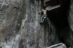 Rock Climbing Photo: Great White Fright, 12a Sunset Rock, TN