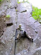 Rock Climbing Photo: JP getting ready to send the 5.9 layback crux on T...