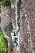 Rock Climbing Photo: Ericka on pitch 3