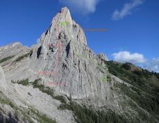 Rock Climbing Photo: Mt Louis topo