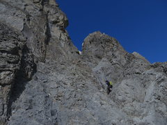 Rock Climbing Photo: The first five rappels are down this somewhat chos...