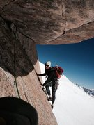 Rock Climbing Photo: Going full euro January 2015. Ski in, climb in tig...