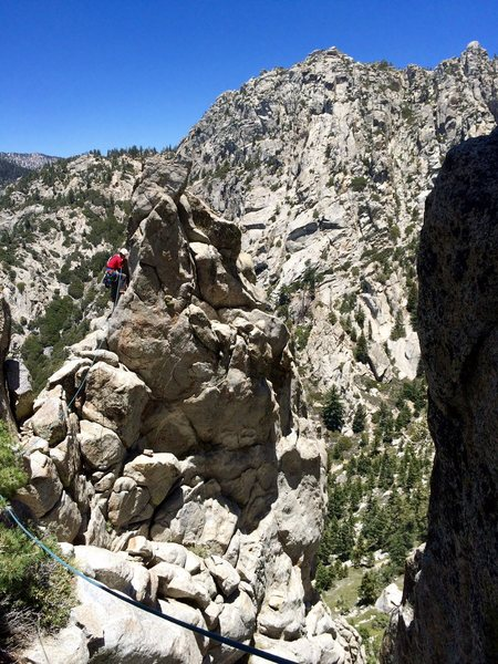 Rock Climbing Photo: Hunter Reinig navigating his way around one of the...