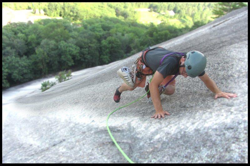Rock Climbing Photo: Devon on the 3rd pitch