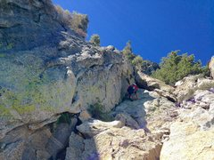 Rock Climbing Photo: Hunter Following P2!