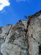 Rock Climbing Photo: Chris Norwood sending the first crux, P4!!!