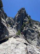 Rock Climbing Photo: Climbers navigating the P5 traverse!