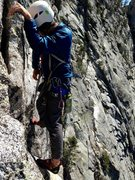 Rock Climbing Photo: Hunter way out there on the Step Around Tower!!