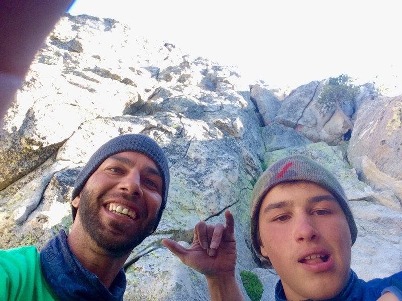 Me and my Boy strung out on the alpine at the P10 notch!!