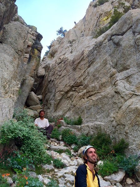 Rock Climbing Photo: Enjoying the ambiance before the wicked descent do...