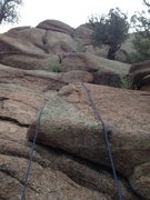 Rock Climbing Photo: The 5.6 w/ rope.