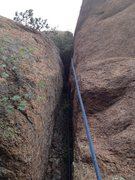 Rock Climbing Photo: The wide 5.6 part.
