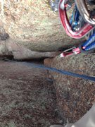 Rock Climbing Photo: Looking down the 5.8