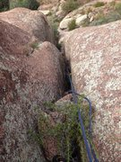 Rock Climbing Photo: Down the 5.8