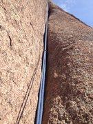 Rock Climbing Photo: Up the 5.10