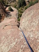 Rock Climbing Photo: Down the 5.10