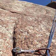 Rock Climbing Photo: The piton.