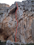 Rock Climbing Photo: Helvetx 5.11b/c 6C+. Magma is just out of the phot...