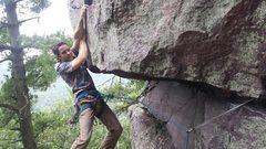 Rock Climbing Photo: Dan having so much fun pulling the roof!