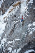 Rock Climbing Photo: P1 of Ha Dov, Bear Creek Falls Wall, Ouray.  Photo...