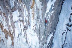 Rock Climbing Photo: Ha Dov P1.  Photo: Karsten Delap.