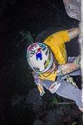 "Rock Climbing Photo: Headlamp FA of ""Oral in the Dark""."