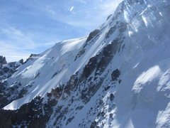 Rock Climbing Photo: snow ridge section with two climbers nearing its t...