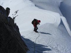Rock Climbing Photo: climbing around the rock step to the summit