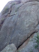 Rock Climbing Photo: Rope is on the route.